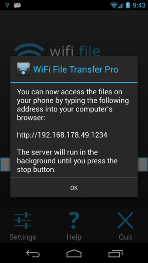 WiFi File Transfer Pro 1.0.9 Screen 6