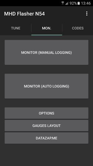 MHD Flasher N54 version 1.91 Screen 5