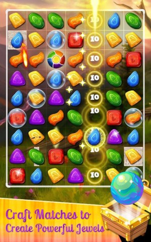 Android Sweet Gems and Candy Match 3 Screen 1