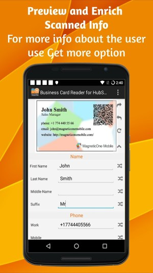 Business Card Reader for HubSpot CRM 1.1.145c Screen 6