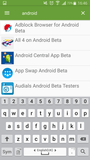 Beta TestingCatalog 3.20 Screen 2