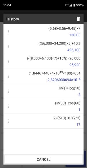ClevCalc - Calculator 2.16.23 Screen 5