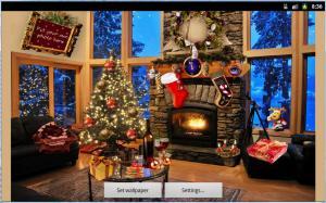 Christmas Fireplace LWP Full 1.81 Screen 3