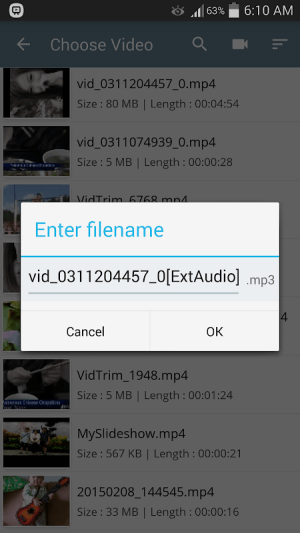 Android Easy Video Cutter Screen 11