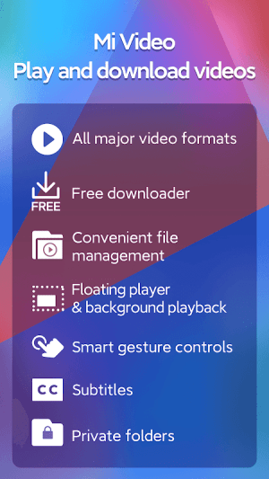Android Mi Video - Play and download videos Screen 3