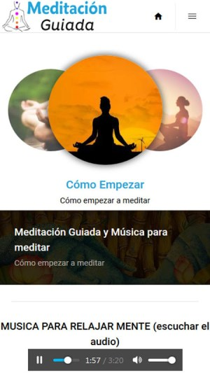 Music for Meditation and Guided Meditation 1.0 Screen 1