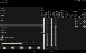 Android music player with parametric equalizer & surround Screen 4