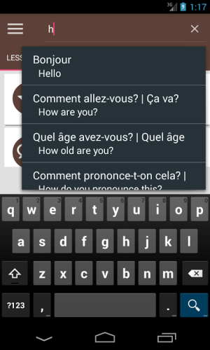 French Phrase book 3.0.0 Screen 3