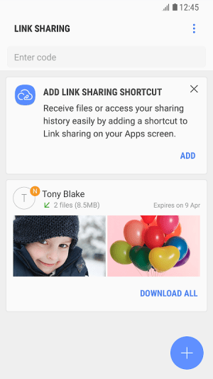 Link Sharing 9.0.00.13 Screen 1