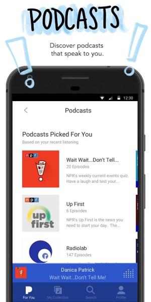 Android Pandora Music Screen 5