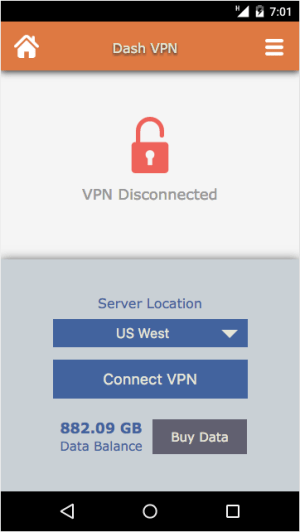 Dash VPN 3.041 Screen 3