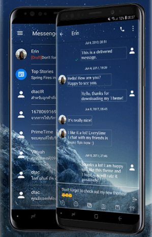 SMS Messages Theme for Galaxy S9 1.0 Screen 4