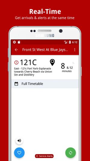 My TTC - Toronto Transit Bus, Subway Tracker 2.6 Screen 1