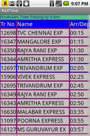 IndianRailway Offline TimeTabl 1.041 Screen 5