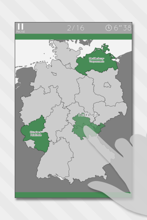 Enjoy Learning Germany Map Puzzle 3.3.1 Screen 8