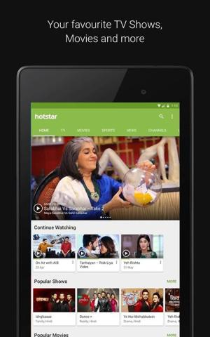 Android Hotstar Live TV Screen 4