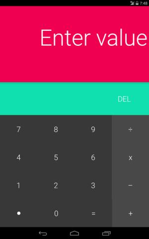 Android L Calculator 1.4 Screen 2