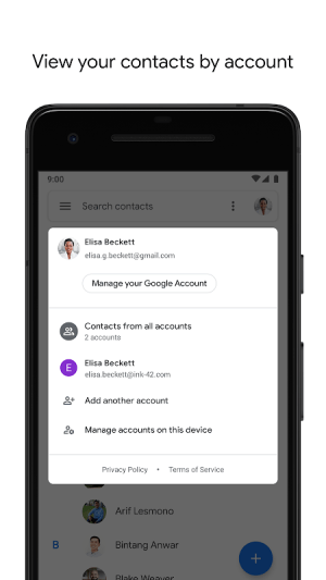 Contacts 3.13.0.281119312 Screen 1
