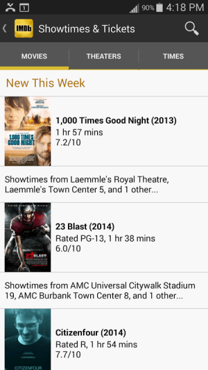 IMDb Movies & TV 2.3.2a Screen 12