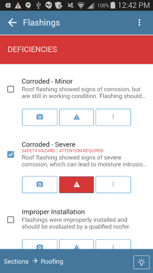 Android Home Inspection Software App Screen 2