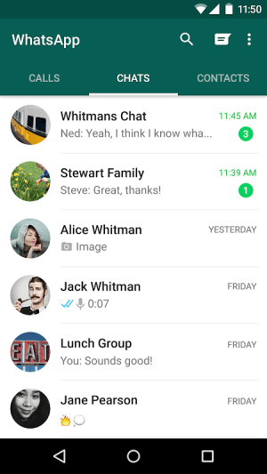Android WhatsApp Messenger Screen 5