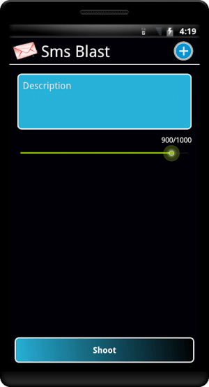 SMS Blast 1.45 Screen 2