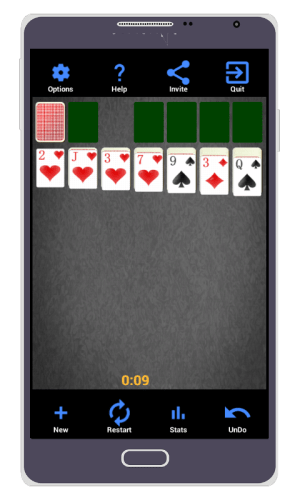 Android Solitaire Screen 1