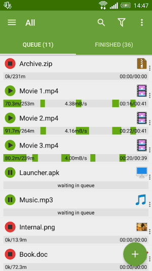 Android Advanced Download Manager Screen 4