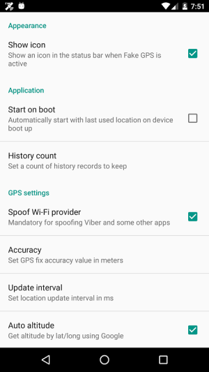 Fake GPS Location Donate 2.0.7 Screen 4