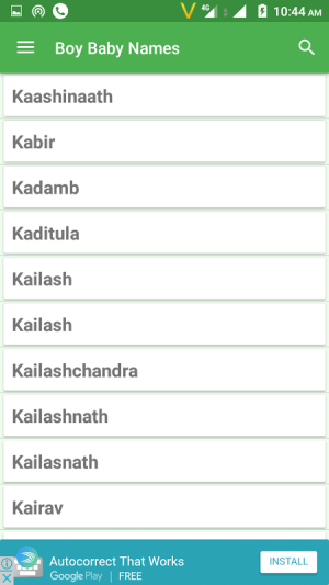 Hindu Baby Names and Meanings 11.4 Screen 2