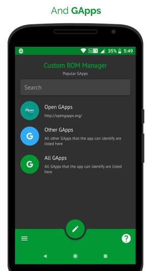 [ROOT] Custom ROM Manager (Pro) 5.5.3.0-pro-stable-minAPI21-arm Screen 1