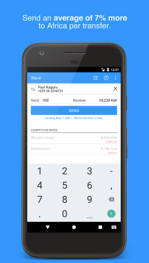 Wave—Send Money to Africa 2.1.3 Screen 2