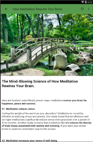 Android MEDITATION FOR BEGINNERS Screen 6
