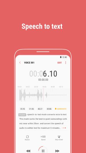 Samsung Voice Recorder 21.2.20.28 Screen 2