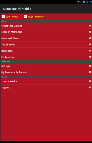 Broadcastify 1.0.9 Screen 6