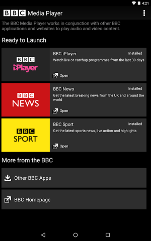Android BBC Media Player Screen 2
