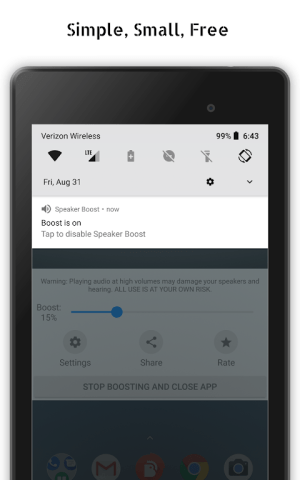 Speaker Boost: Volume Booster & Sound Amplifier 3D 3.0.15 Screen 1