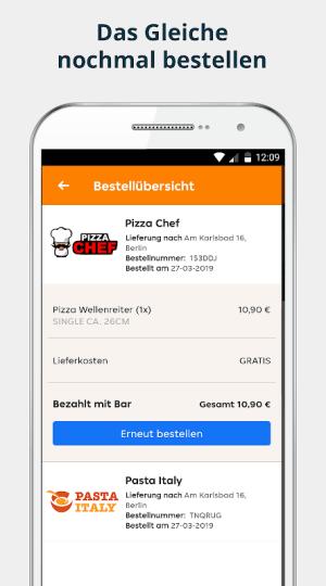 pizza.de | Food Delivery 6.11.2 Screen 1