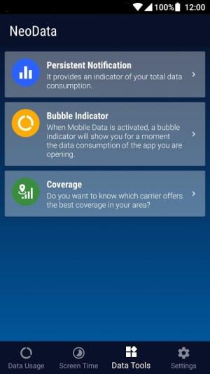 Data Usage Vodafone, O2, Orange. Hotspot - NeoData 2.5.0 Screen 4