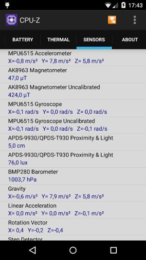 CPU-Z 1.33 Screen 5