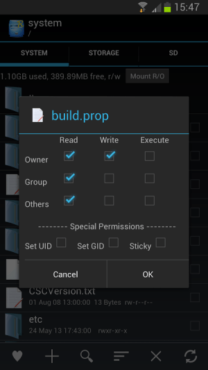 Root Explorer 3.3.4 Screen 5
