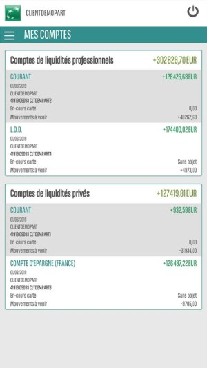 Mes Comptes BNP Paribas Reunion 0.1.3 Screen 6