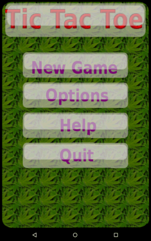 Android Tic tac toe Screen 2