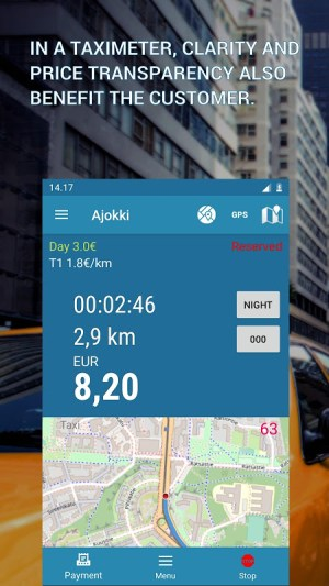Trip (free), tripmeter CS8.05-27022020 Screen 1
