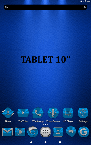 Light Blue Icon Pack Free 3.9 Screen 16