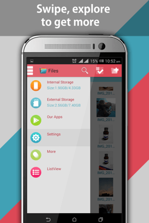 Android File Explorer and File Manager Screen 1