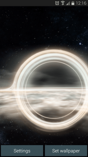 Black Hole Live Wallpaper Pro Apks Android Apk