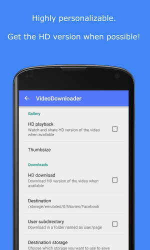 Android MyVideoDownloader for Facebook: download videos! Screen 3