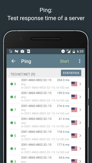 Network Analyzer Pro 2.1 Screen 3