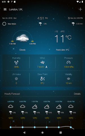 Weather Advanced for Android 1.0.5.0 Screen 1
